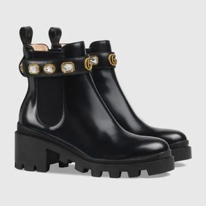 Authentic Gucci Jewel Boots